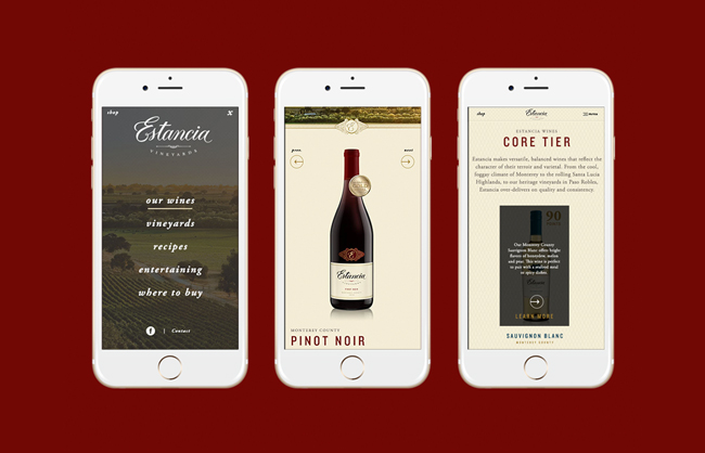 Estancia Vineyards Website