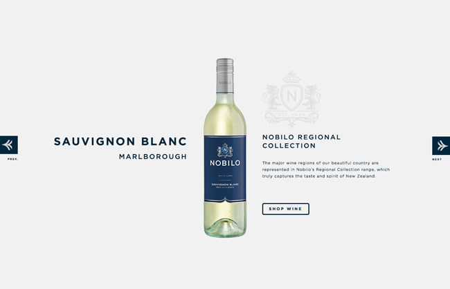 Nobilo Wines Website