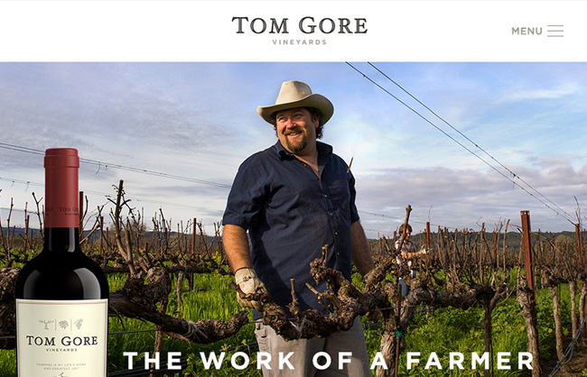 Tom Gore Vineyards Website